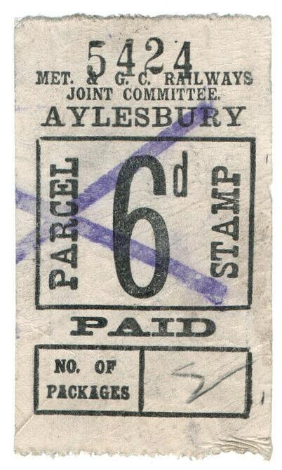 (I.B) Metropolitan & Great Central Joint Railway : Parcel 6d (Aylesbury)