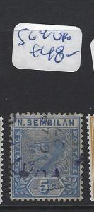 MALAYA  NEGRI SEMBILAN   (PP2507B)  5C   TIGER   SG  4   VFU