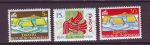 J25020 JLstamps 1970 indonesia set mnh #780-2 expo 70