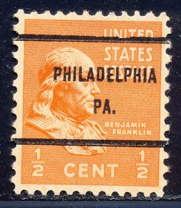 Philadelphia PA, 803-61 Bureau Precancel, ½¢ Franklin