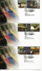 VENEZUELA 2006 CARUACHI HYDROELECTRIC POWER STATION 5 FDC COMPLETE SET ON COVERS