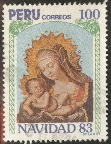 Peru  Scott 804 Used Christmas 1983 Madonna
