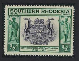 S. Rhodesia British South Africa Coats of Arms 1v ?p SG#53