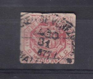 Venezuela 1873 1/2R Pink Imperf SG76a J7530
