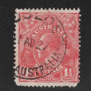 AUSTRALIA Scott 26 used, wmk 9, perf 14