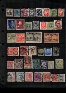 Poland  MH  and used lot of 36