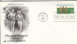 1983, Physical Fitness, Artcraft, FDC (D14700)