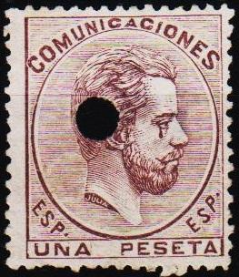 Spain.1872 1p S.G.204 Fine Used