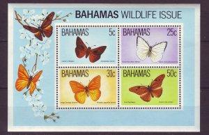Z723 JLstamps 1983 bahamas s/s mnh #542a butterflies