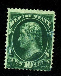 O62 Used Fine Blue Cancel Cat$57.50