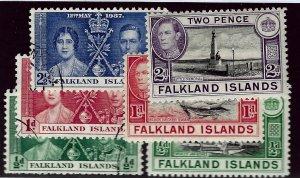 Falkland Islands SC#81-86 Used F-VF...Worth a Close Look!!