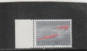 Greenland  Scott#  136  MNH  (1982 Shrimp)