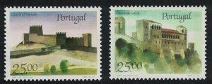 Portugal Castles 5th series 2v 1987 MNH SG#2073-2074