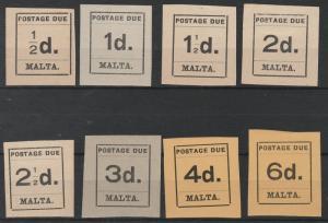 MALTA 1925 POSTAGE DUE 1/2D - 6D