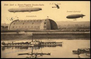 Germany Zeppelin 1916 Pioneer Dresden Kaditz Luftschiffhalle Hangar Used P 69621