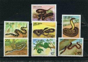 Vietnam MNH 1972-8 Snakes Reptiles