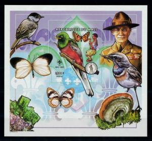 [99048] Mali 1998 Butterflies Scouting Birds Imperf. Sheet MNH