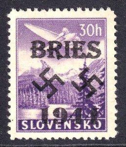 SLOVAKIA 30h WW2 BRIES 1944 OVERPRINT OG NH U/M F/VF BEAUTIFUL GUM