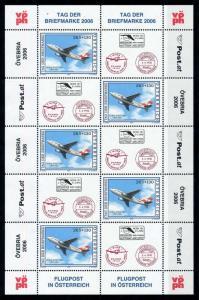 [76691] Austria 2006 Stamp Day Aircraft Airbus A310-300 Sheet MNH