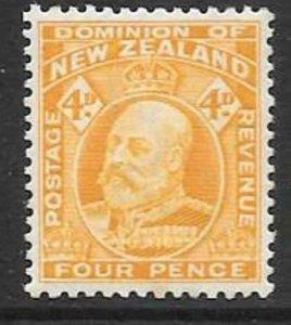 NEW ZEALAND SG390a 1917 4d WELLOW MTD MINT