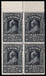 Canada Scott OX3 Gibbons OX3 Block of Stamps