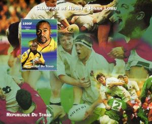 Chad 2002 Champion of Rugby - Jonah Lomu - SS perf.mnh vf