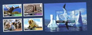 SOUTH GEORGIA - # 434-438 - MNH - Frozen Planet Movie, seals, birds  - 2011