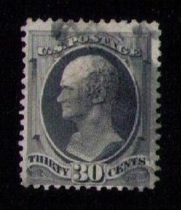 US Sc 165 Used GREENISH BLACK F-VF CV $140.00