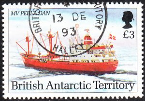 British Antarctic Territory 1993 used Sc #212 3pd MV Perla Dan Research Ships