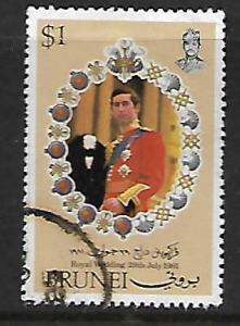 BRUNEI 269 USED ROYAL WEDDING, CHARLES 1981
