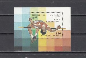 Sahara, 1991 Cinderella issue. Barcelona Olympics s/sheet.