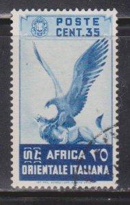 ITALIAN EAST AFRICA Scott # 9 Used  - Bird