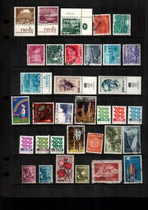 Israel  34  diff used and mint lot collection