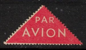 FRANCE, SCARCE VINTAGE TRIANGLE AIR MAIL LABEL, CINDERELLA