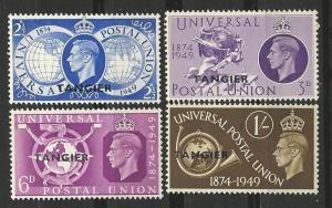 Great Britain-Tangier # 545-49  U.P.U. Anniversary  (4) Unused LH