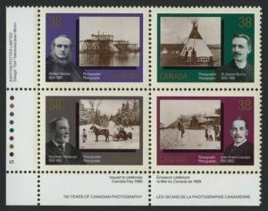 Canada 1240a BL Plate Block MNH Photography, Horse, Cycle