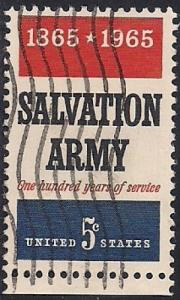 1267 5 cent Salavation Army Centennial VF used