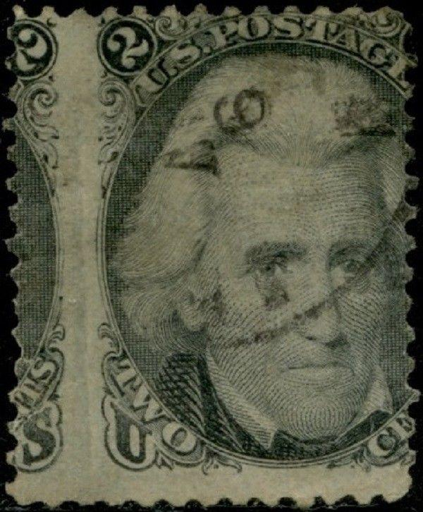 #73 VAR. USED 2¢ JACKSON CHANGE OF DESIGN ERROR BQ684