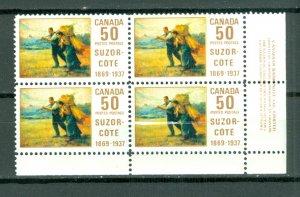 CANADA 1969 SUZOR COTE #492 LR CORNER BLK MNH...$25.00