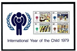 Singapore 332a MNH 1979 Intl Year of the Child S/S