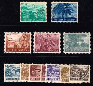 INDONESIA STAMP USED AND MINT STAMPS COLLECTION LOT  #7