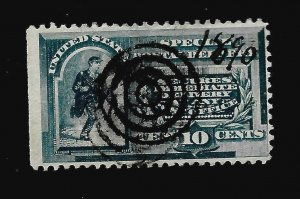 US 1888 Sc# E 2  10 c Special Delivery USED NSE H  Target Cancel- Dated
