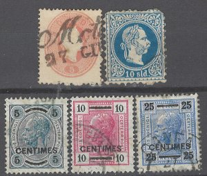 COLLECTION LOT # 1985 AUSTRIA 5 STAMPS 1861+ CV+ $41