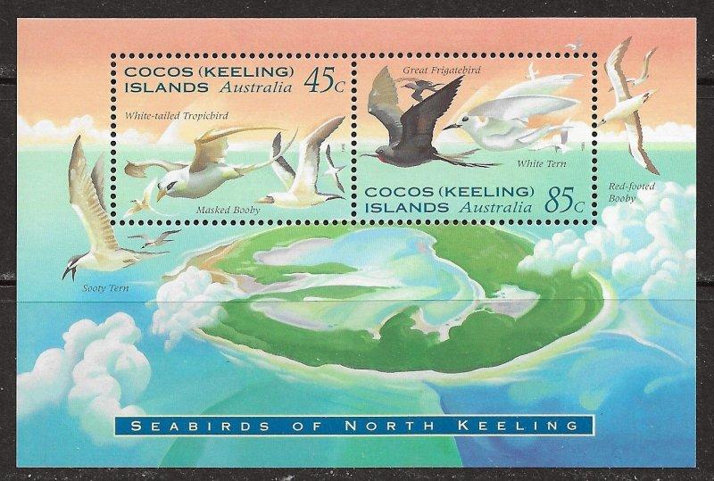 Cocos Islands ~ Scott # 301a ~ MNH ~ Seabirds
