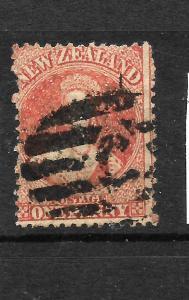 NEW ZEALAND 1862  1d  FFQ  P13   FU  SG 68 CHALON