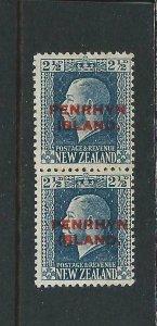 COOK IS/PENRHYN 1917-20 2½d BLUE DUAL PERF PAIR MM SG 24b CAT £45
