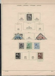 lithuania stamps page ref 18179