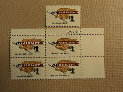 USPS Scott 1341 $1 Airlift For Our Servicemen 1968 Lot Of...