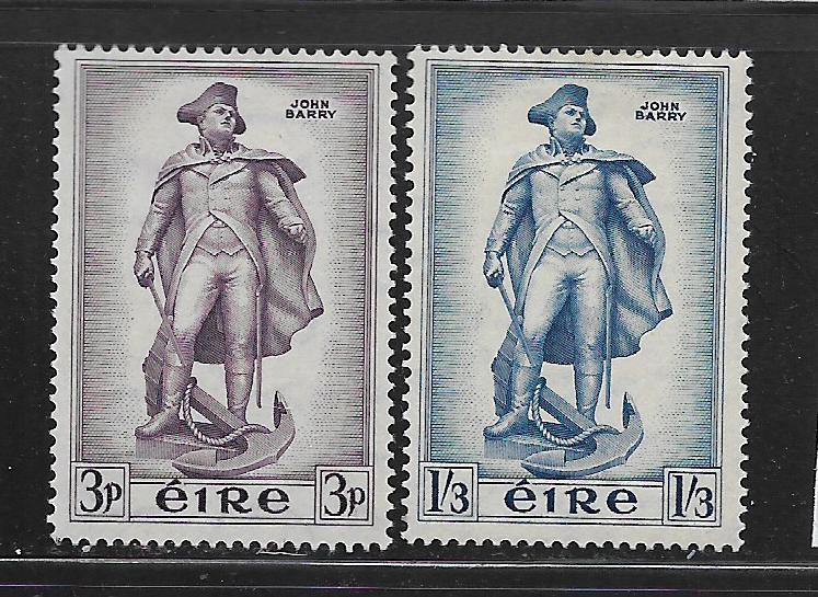 IRELAND, 155-156, MINT HINGED, STATUE OF JOHN BERRY