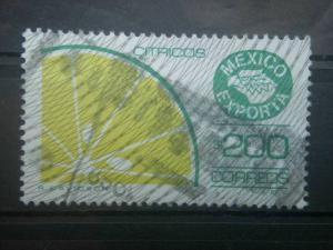 MEXICO, 1983-88, used 200p Emer & yel grn, Definitive. Scott 1135/1584